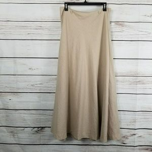 Saint Tropez West | Linen Blend Maxi Skirt Khaki